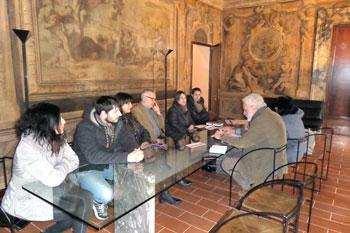 """La conferenza stampa di presentazione della """"Banca del tempo Alta Valle del Tevere""""."""