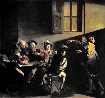 """""""La vocazione di Matteo"""" nel celebre quadro del Caravaggio"""