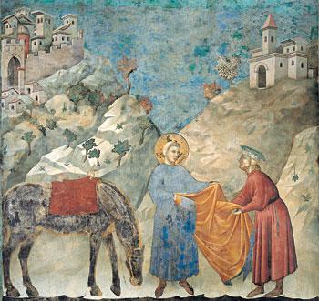 San Francesco dona il mantello al povero