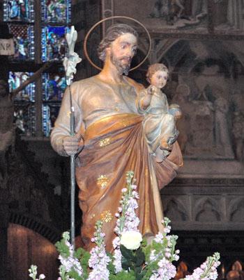 La statua di San Giuseppe nel duomo di Orvieto
