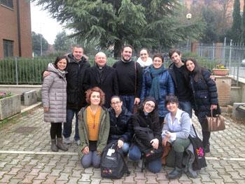 Animatori di Comunità di tutta l'Umbria insieme a mons. Sorrentino e don Francesco Verzini tutor di Perugia