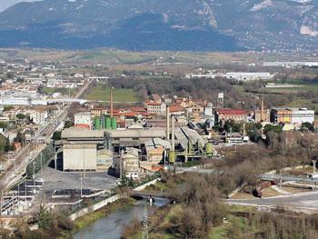 Panorama della zona industriale di Narni Scalo