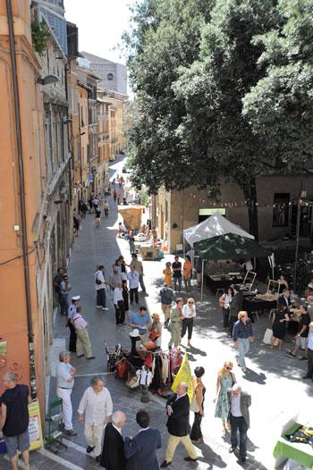 Corso Cavour nei pressi di Sant'Ercolano a Perugia