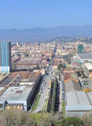 Panorama della zona industriale di Terni