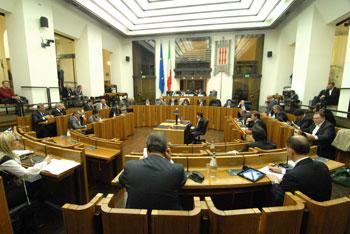 L'aula del consiglio regionale dell'Umbria