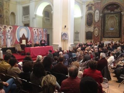 Presentazone del libro del Cardinale Bassetti con Enzo Bianchi, Gian Guido Vecchi, Elio Bromuri