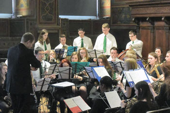 Il concerto alla Sala dei Notari del Port Washington High School band&choir