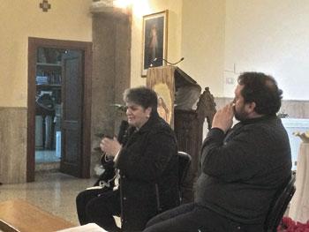 Lia Trancanelli e don Andrea Rossi, assistente spirituale diocesano dell'Ac