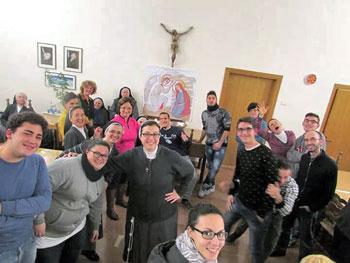 Giovani in ritiro spirituale ad Assisi