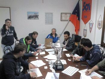 Gli organizzatori della Bardascio Cup in riunione
