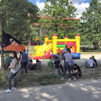 Uno degli spazi dedicati ai bambini all'interno dell'evento