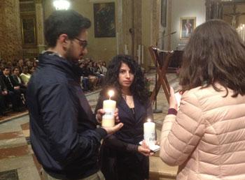 La giovane cristiana palestinese che ha portato la sua testimonianza in cattedrale