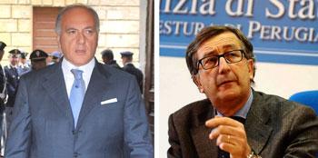 I questori di Perugia e Terni, Carmelo Gugliotta e Carmine Belfiore