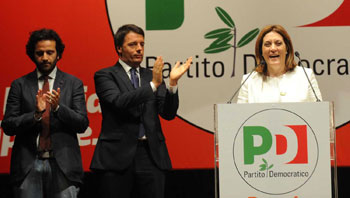 Catiuscia Marini, Matteo Renzi e Giacomo Leonelli