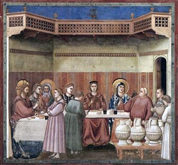Le Nozze di Cana, affresco di Giotto, Cappella degli Scrovegni - Padova