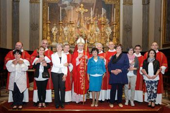 Mons. Cancian, i diaconi e le spose