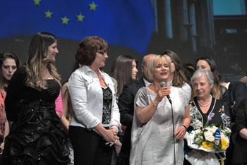 Rita Borsellino (a destra) intervenuta all'incontro