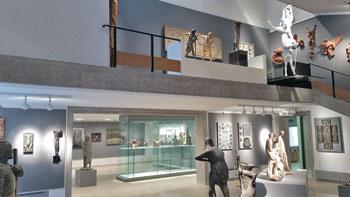 Due delle sale espositive della galleria della pro Civitate Christiana