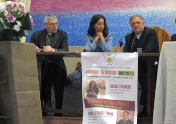 L'incontro con il Patriarca latino di Gerusalemme Fouad Twal