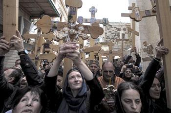 Cristiani ortodossi che celebrano il venerdì santo