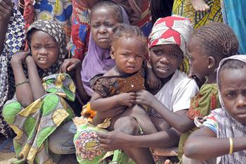 Un campo profughi in Nigeria