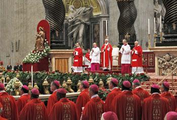 La celebrazione Eucaristica presieduta da Papa Francesco