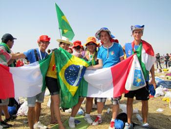 Giovani alla Giornata Mondiale della Gioventù di Rio nel 2013