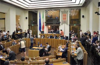 L'aula del consiglio regionale
