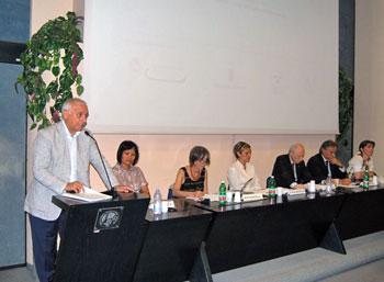 Alcuni momenti della presentazione tenuta alla Camera di Commercio di Terni