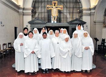 Una foto del 2013 delle monache benedettine di Citerna
