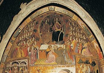 Particolare della Pala di Sant'Ilario, dipinta nel 1393 e situata sopra l'altare all'interno della Porziuncola