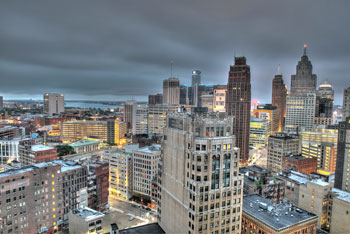 Detroit, panorama.