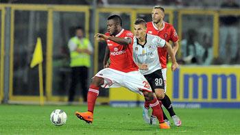 Un momento della partita La Spezia - Perugia