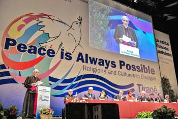 Un momento dell'incontro internazionale della Comunità di Sant'Egidio a Tirana