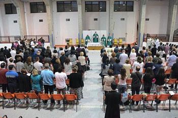 I partecipanti all'incontro dei catechisti a Roccaporena