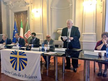 Da sinistra Pellegrini, Giovagnoli, Truffarelli, Massini, Bassetti, Camaiani