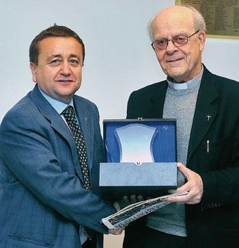 Dante Ciliani e don Elio Bromuri
