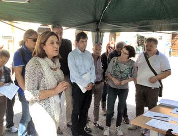 Catiuscia Marini e Andrea Romizi durante il loro intervento