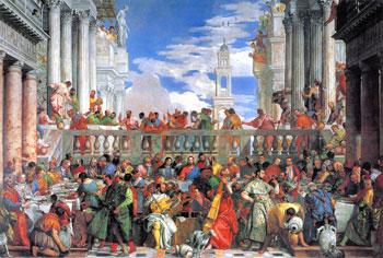 """Le """"Nozze di Cana"""" aperte a tutti; opera del Veronese (Parigi, Louvre)"""