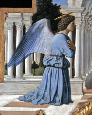 Piero della Francesca, particolare dell'Annunciazione