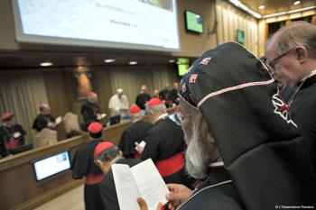 I vescovi durante i lavori dell'assemblea sinodale