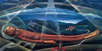 Il transito di san Francesco, di Gerardo Dottori, Convento di Monteripido, Perugia