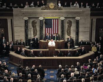 Papa Francesco visita la sede dell'Onu