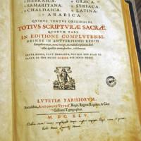 Il frontespizio della Bibbia poliglotta