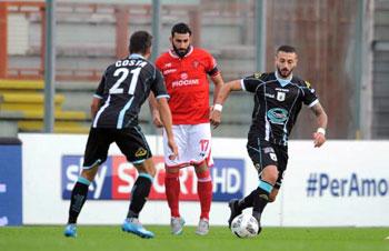 un momento della partita Perugia-Entella
