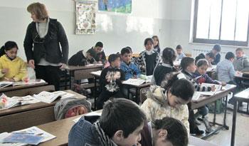 Una scuola cristiana in Palestina
