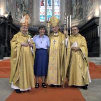 Nadia Sannipoli con i vescovi Ceccobelli e Bottaccioli