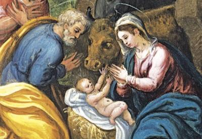 Natività, olio su rame, fine sec. XVI-inizio sec. XVII , Spoleto, Museo Diocesano