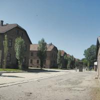 Alcune baracche all'interno del campo di Auschwitz