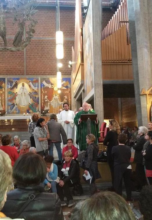 Il Card. Bassetti celebra la messa per i pellgrini umbri in San Gregorio -  Roma 22 ott. 2016